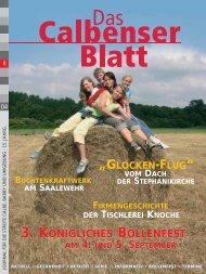 3. KÖNIGLICHES BOLLENFEST 3 ... - Grafisches Centrum Cuno