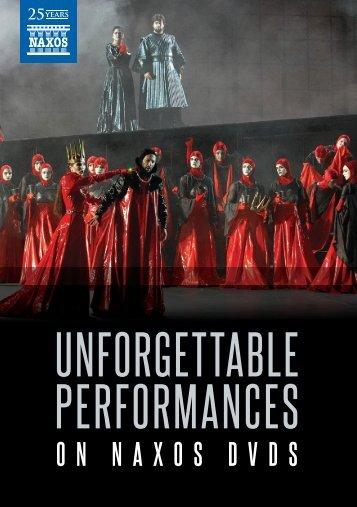 UNFORGETTABLE PERFORMANCES - Naxos