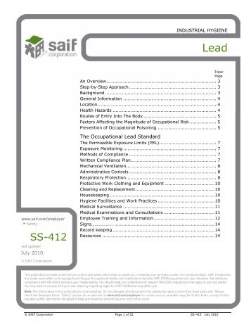 Lead - SAIF Corporation