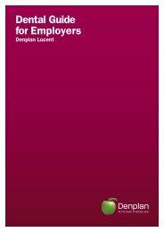 Dental Guide for Employers - Denplan
