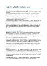Info fra SFO - HØST 2013 - Trondheim kommune