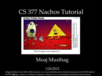 CS 377 Nachos Tutorial