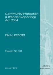 Community Protection (Offender Reporting) Act 2004 - Law Reform ...