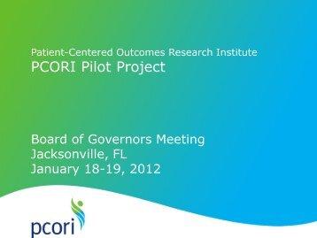 Pilot Project Report - PCORI