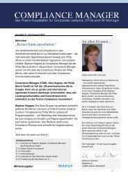 (PDF) | Ausgabe August 2007 - Compliance
