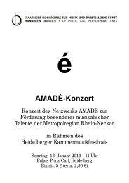 Konzert 13.01.2013 (Kammermusikfestival - Staatliche Hochschule ...