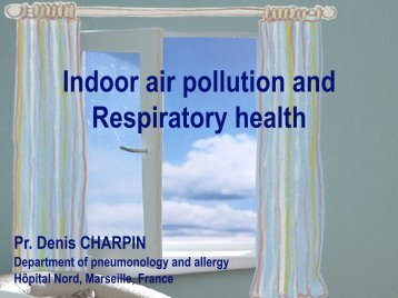 Indoor air pollution and Respiratory health