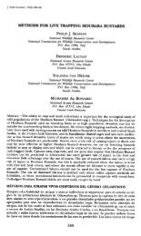 Methods for live trapping houbara bustards - Nwrc.gov.sa