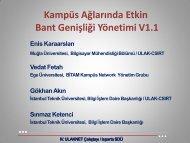 Kampus Ağlarında Bant Genişliği Yönetimi Önerileri - Ulakbim