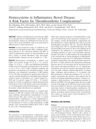 Homocysteine in Inflammatory Bowel Disease - Utrecht Digestive ...