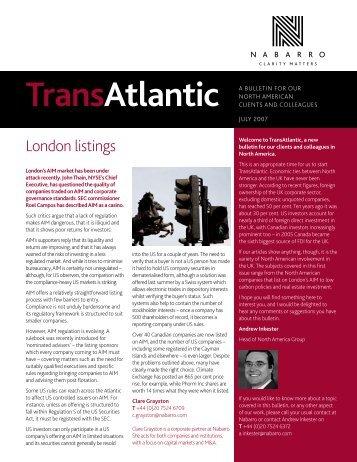 TransAtlantic - Nabarro