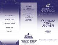LCoR Q&A 3-Panel Broch - Lutheran Church of the Resurrection