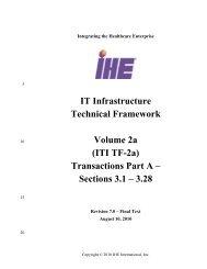 ITI Technical Framework - IHE