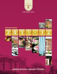 IHC Annual Report 2011-12 (Annual Accounts) - India Habitat Centre