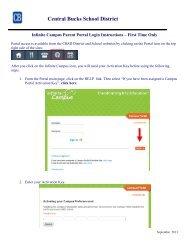 Portal Login Instructions - Central Bucks School District
