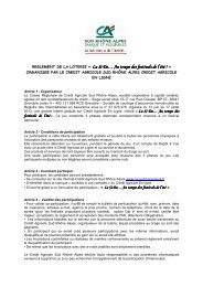 règlement - Crédit Agricole Sud Rhône Alpes