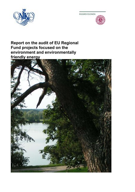 Report on the audit of EU Regional Fund projects focused on the ...
