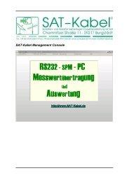 Hilfe für SPM 22 PC - SAT-Kabel-Online