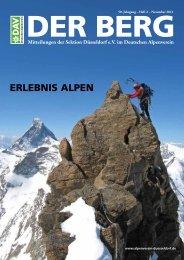 DER BERG – November 2011 - Deutscher Alpenverein