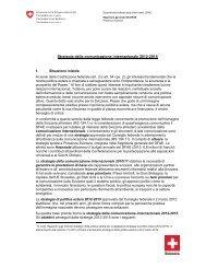 Strategia della comunicazione internazionale 2012-2015