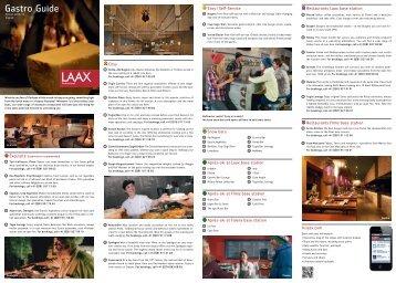 Gastro Guide (pdf) - Laax