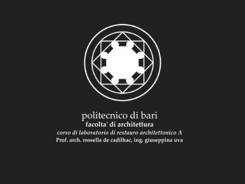 Diapositiva 1 - Politecnico di Bari