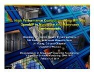 Why OpenMP? - NAS - NASA