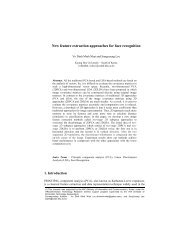 New feature extraction approaches for face recognition - Ubiquitous ...
