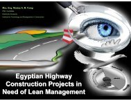 Egyptian Highway Construction Projects in Need of Lean Management