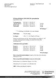 Förslag till läsåret 2011/2012 för grundskolan Arbetsårets fyra perioder