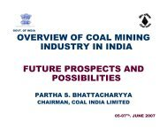 Overview of Coal Mining Industry in India - Office of Fossil Energy
