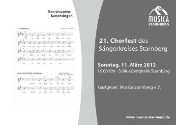 Sonntag, 11. März 2012 - Musica Starnberg