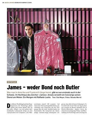 James – weder Bond noch Butler