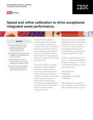 Maximo Calibration brochure