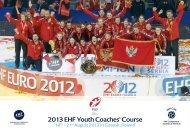 2013 EHF Youth Coaches' Course - European Handball Federation