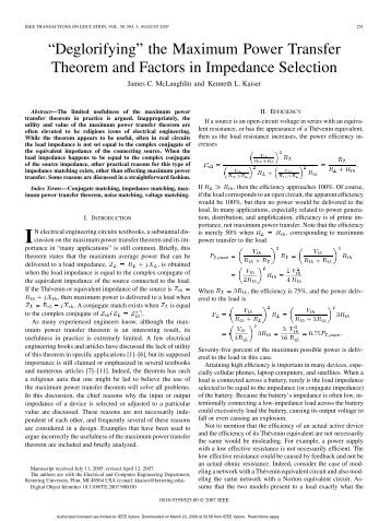 lab reoprt maximum power transfer Experiment on power transfer in electrical circuits_lab_exp_6_reportpdf 10561538/preature_labpdf pdf file 11 maximum power transfer theorem.