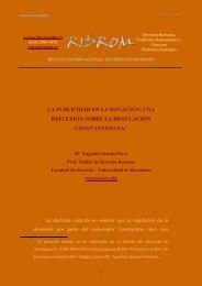 La publicidad en la donación - revista internacional de derecho ...