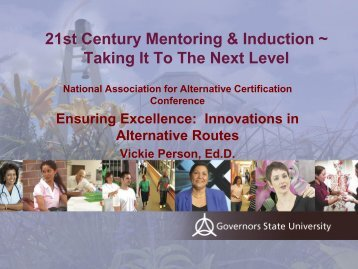 21st Century Mentoring & Induction - National Association for ...