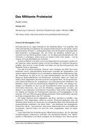 Austin Lewis: Das Militante Proletariat - Wildcat