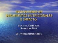 Indicaciones de suplementos nutricionales e impacto. Norbel ...