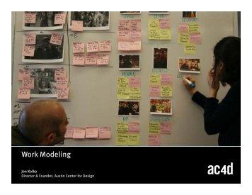 Work Modeling - Austin Center for Design