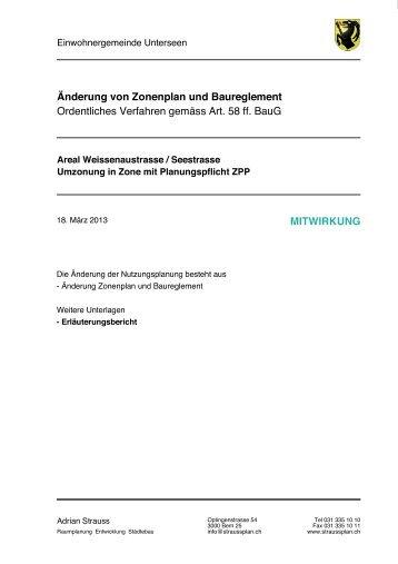130325_ErlB ZP Änderung Weissenau-_ Seestrasse - Unterseen