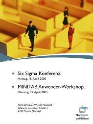 Six Sigma Konferenz. MINITAB Anwender-Workshop. - StEP-Up