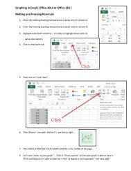 Graphing in Excel ( Office 2007 ) Melting and ... - Avon Chemistry