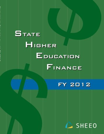 State Higher Education Finance FY 2012 - SHEEO