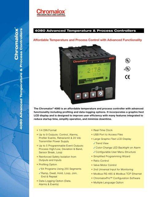 4080 Advanced Temperature and Process Controller Brochure