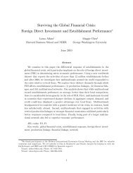Surviving the Global Financial Crisis: Foreign Direct Investment and ...