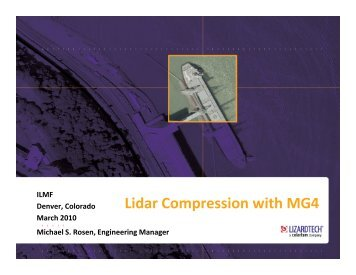 Lidar Compression with MG4 - LizardTech
