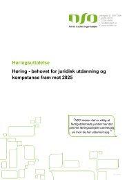 behovet for juridisk utdanning og kompetanse fram mot 2025 - Norsk ...