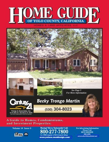 800-277-7800 Becky Trongo Martin - Home Guide of Yolo County, CA